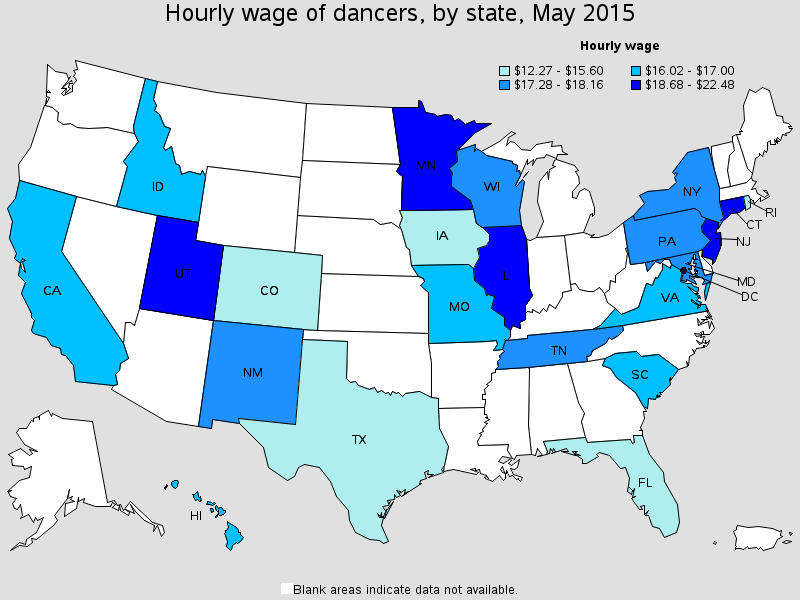hourly wage dancers blue